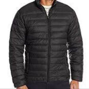 Hawke & Co Mens Small Jacket Black Puffer Packable Travel Compact New